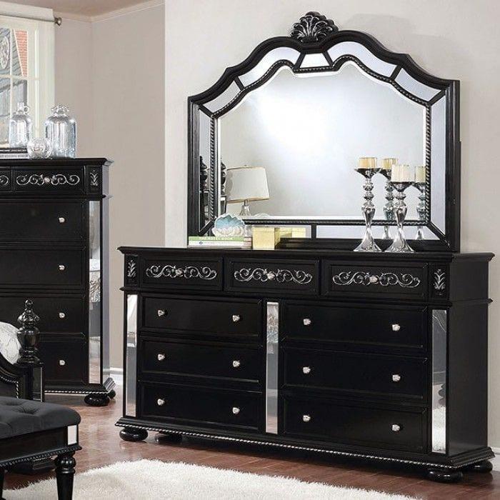 Cm7194bk D Azha Black Dresser Mirror